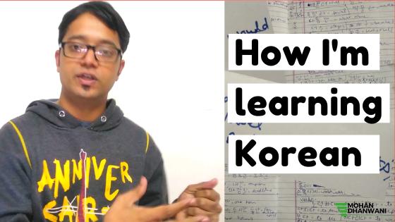 How I'm leaning Korean